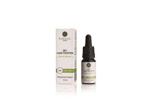 6% CBD Bio Hanftropfen Raw & Natural 10ml